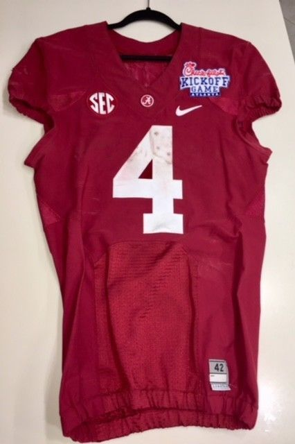 official photos 854d2 69efa Alabama TJ YELDON Kickoff Classic game used football jersey ...