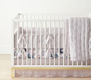 Blush Amelia Peach Crib Bumper Set Peach Floral Fitted Crib Sheet