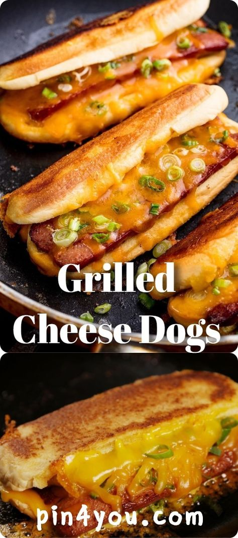 Grilled Cheese Dogs - pin4you.com