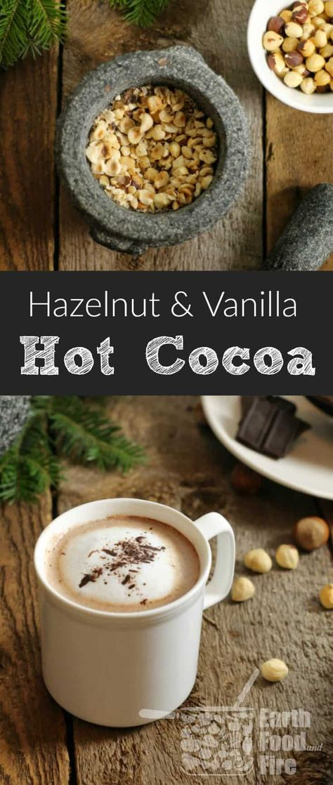A perfectly nutty and comforting drink to enjoy on a cold day, homemade hazelnut hot cocoa is easy to make and enjoyed by the whole family. Great after a day outside skating or sitting around a campfire! #hotchocolate #hotcocoa #drinks
