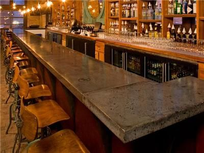 Brick Bar With Polished Concrete Counter Top! Love It! | Home Inspiration |  Pinterest | Counter Top, Concrete And Bricks