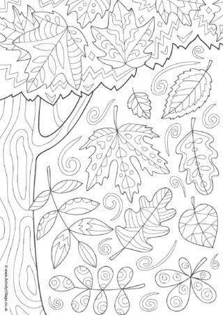 Autumn Colouring Pages Fall Coloring Pages Autumn Doodles