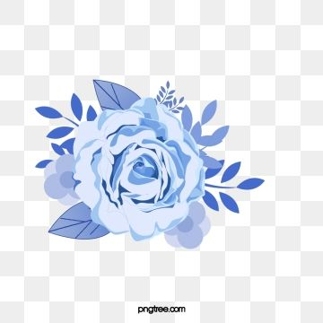 2020 的 Blue Flower Png Picture Flower Clipart Watercolor