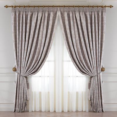 Togas Casablanca Solid Pinch Pleat Single Curtain Panel Size Per