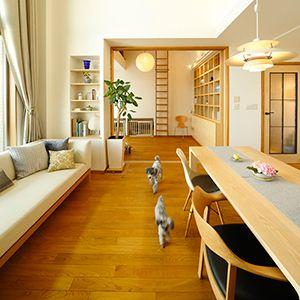 ペット目線で住まいを考え イヌと人に心地よい暮らしを実現したマンション インテリア ペットと暮らすインテリア 暮らし