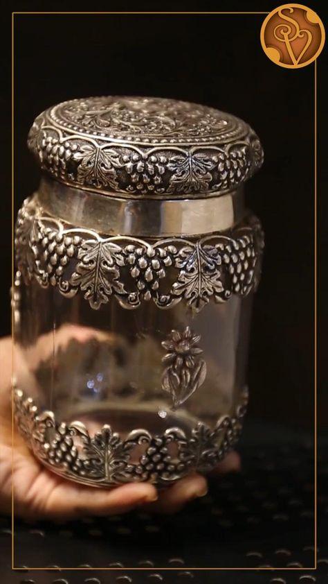 Antique Silver Jar Set