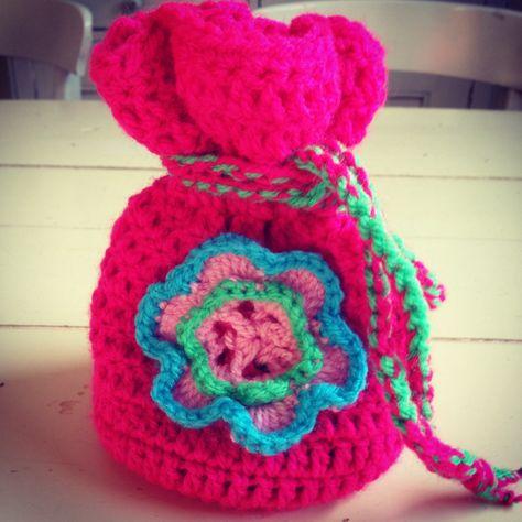 Crochet Marble Pouch Gehaakte Knikkerzak Haken Pinterest
