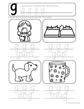 Phonics Worksheets, Lesson Plan, Flashcards | Jolly Phonics Letter G ...