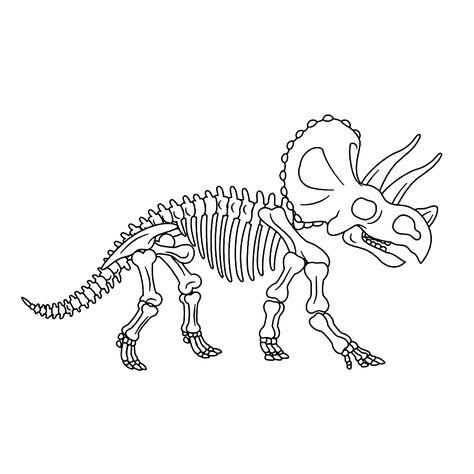 Kleurplaten Van Dino S.Fossielen En Dino Skeletten 0005 Thema Dino S Pinterest Dinozavry