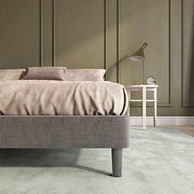 Queen Upholstered Platform Bed Frame, Queen Upholstered Platform Bed Frame With Legs Jubilee Mattress