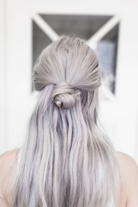 TheyAllHateUs for the love of grey..with purple toner…this is my future hair and I like it!