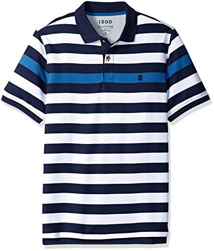 Izod Rugby Stripe Performance Polo Uomo