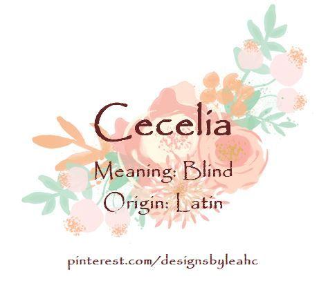 14+ Cecilia name meanings ideas