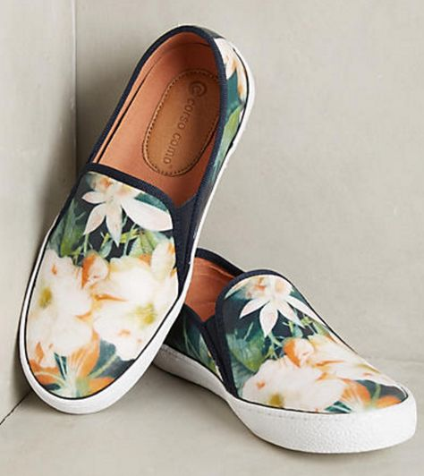 Floral Slip-on Sneakers