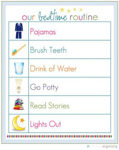 10 Free Organizing Printables for Family  I printed this list off for Bobby and Jess and posted in their rooms ~ Crystal