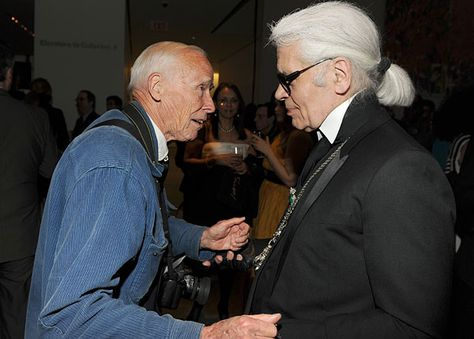 Of all the folks we're most excited to catch a glimpse sauntering around the tents at Fashion Week, guess who tops our list? Photo: Patrick McMullan Imagine this conversation between Bill and Kaiser Karl.