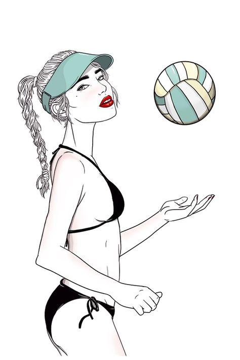 Resultado De Imagen Para Entrenamiento Voley Tatuajes De Voley Playa Dibujo Dibujos
