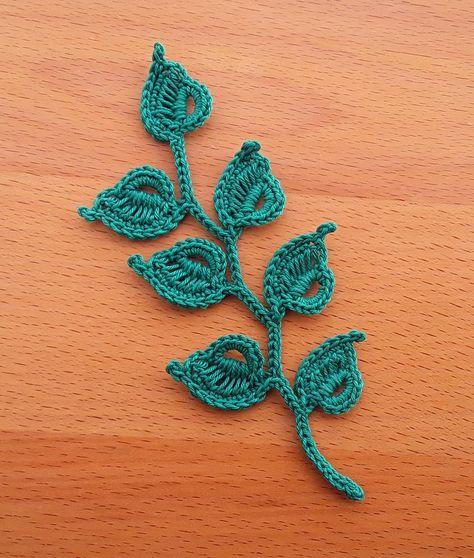 Crochet Leaf Free Pattern, Crochet Earrings Pattern, Crochet Leaves, Crochet Flowers, Crochet Cross, Crochet Applique Patterns Free, Irish Crochet Patterns, Crochet Ideas, Crochet Appliques