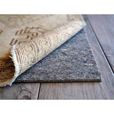 Cushgrip 1 8 Inch Thick Non Slip Felt Rubber Rug Pad Rubber Rugs Types Of Carpet Carpet Padding