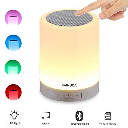 Kainuoa Led Touch Bedside Lamp With Smart Touch Control Outdoor Table Lamp Bluetooth Speaker Lamp And Color Contr Outdoor Table Lamps Kids Sleep Bedside Lamp