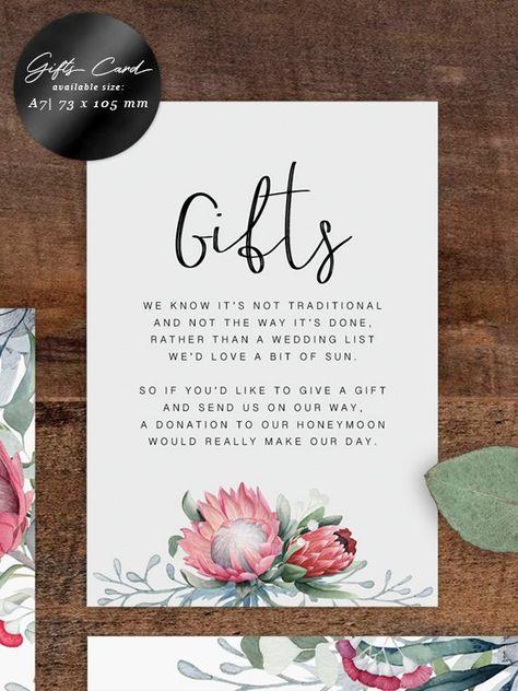 Protea Wedding Invitation Set/ Printable Rustic Wedding | Etsy