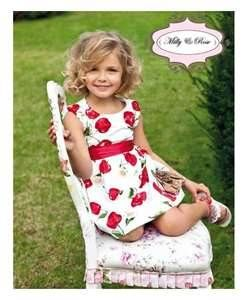 Lovely, right? both the girl and the strawberry skirt.