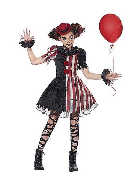 Clown Halloween Costumes For Girls.Kids Twisted Circus Clown Costume Spirithalloween Com Scary Girl Halloween Costumes Clown Costume Women Scary Clown Costume