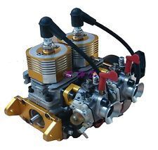 52CC Inline Twin Left Side Exhaust Marine Engine For RC Boat