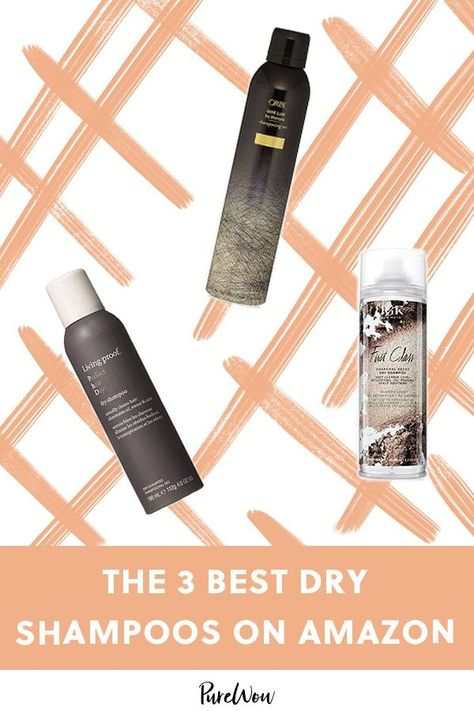 The 3 Best Dry Shampoos on Amazon #purewow #haircare #shopping #hair #amazon #review #tip #beauty #product #shampoo #shoppable