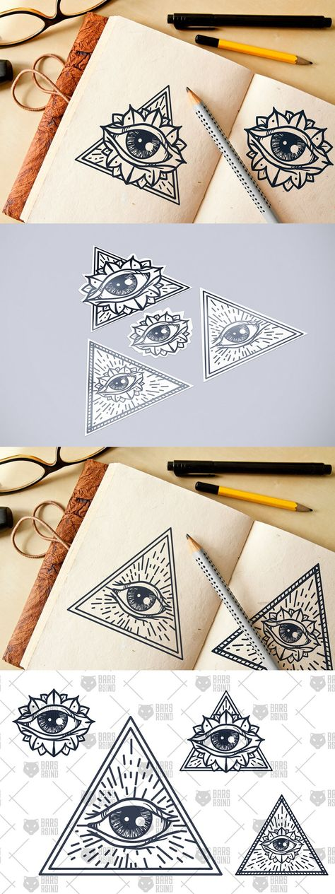 All Seeing Eye In Triangle Illustrations