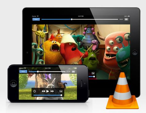 Play all your movies and show in all formats without conversion with the famous media player VLC for iOS l #freeapp