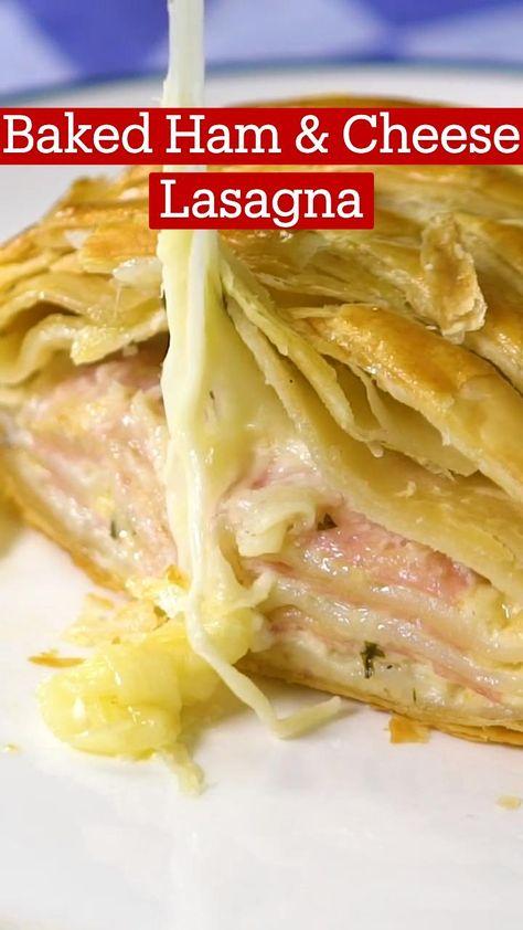 Baked Ham & Cheese Lasagna