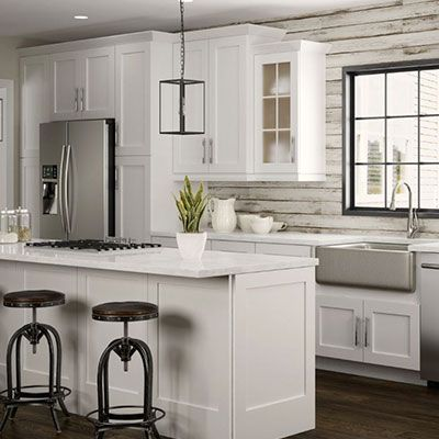 Newport Pacific White Cabinets