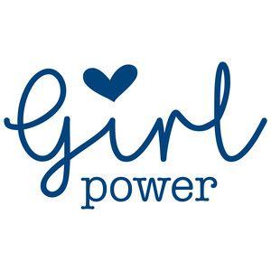 Plumeria Flower Box Silhouette Design Power Logo Girl Power