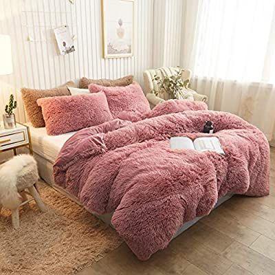 Amazon Com Xege Plush Shaggy Duvet Cover Luxury Ultra Soft Crystal Velvet Bedding Set 1pc 1 Faux Fur Duvet Cov In 2020 Velvet Bed Velvet Bedding Sets Duvet Cover Sets