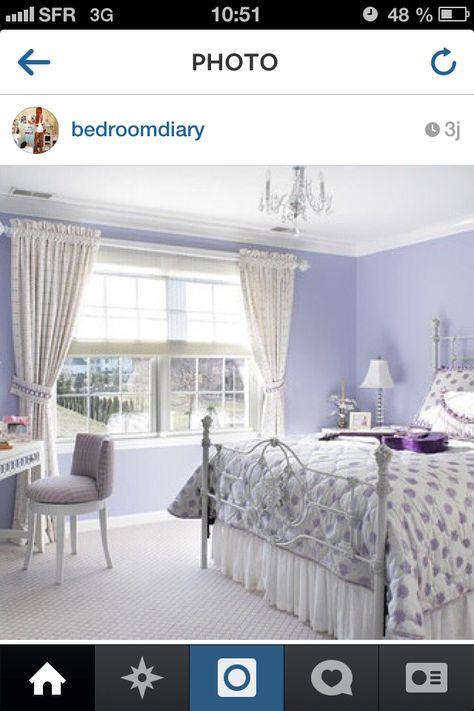Magnifique Chambre Dans Les Tons Lavande Et Lilas J Adore