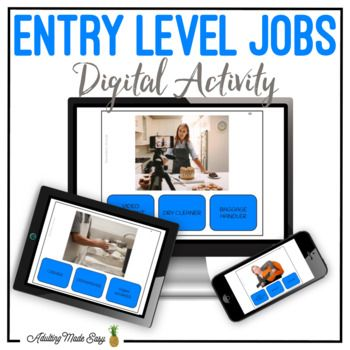 Entry Level Jobs Digital Interactive Activity Digital Interactive Activity Special Education Students Interactive Activities