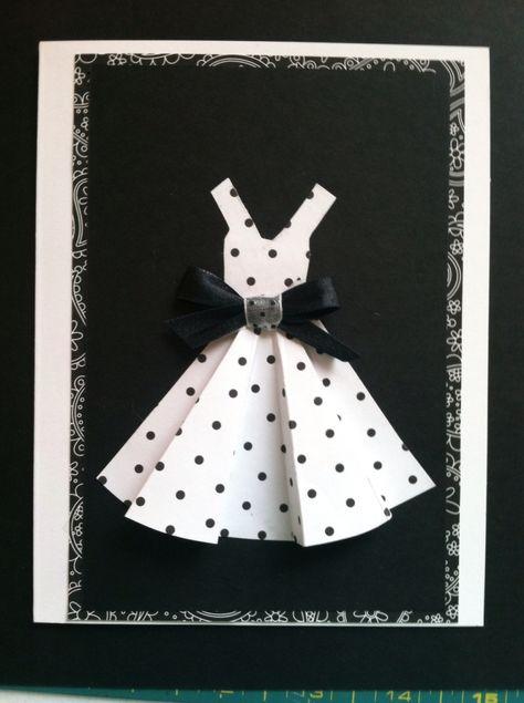 Открытки с тканью своими руками платье
