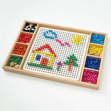 Holz Mosaik Steckspiel 420tlg Mosaik Holzspiele Spiele