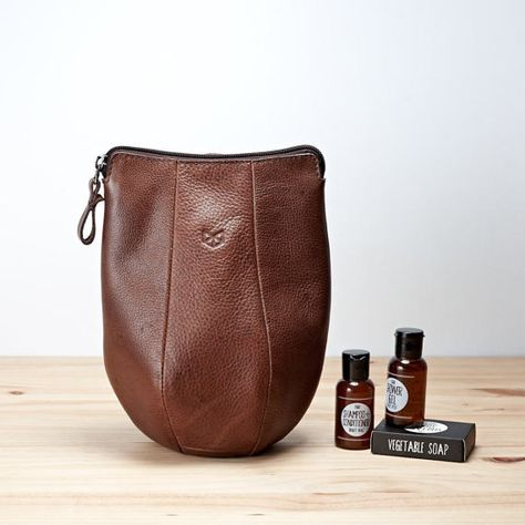 92e4cd19a9 Boxer Speed Bag Leather Dopp Kit Toiletry Bag Waterproof liner. Personalized  Dopp kit