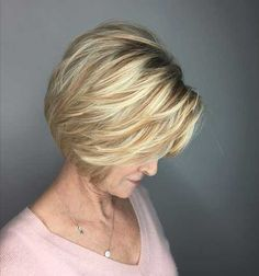 Short Layered Bob Haircuts For Older Women 9