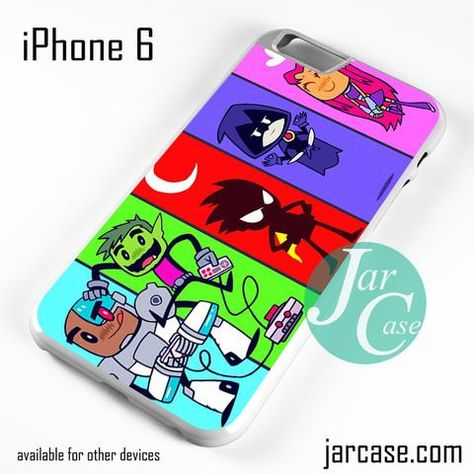 Teen Titans characters iphone case