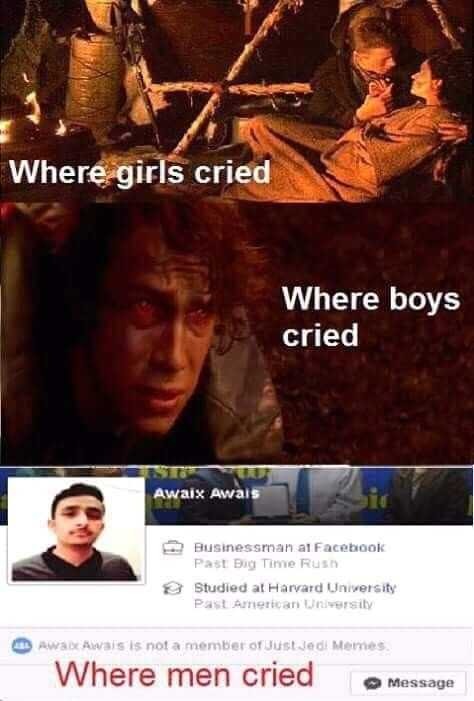 Pin By Adolyy123 On Star Wars Star Wars Humor Star Wars Memes Fandom Memes
