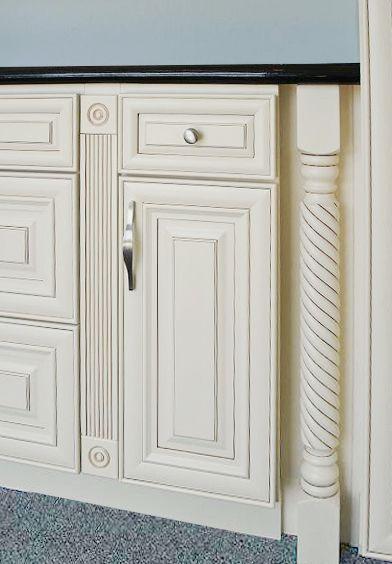 Home Cabinet Westbury Creme Maple Glazed Decorative Post Fluted Filler Rosette Block Cabinet Decor Decor Metal Shelves