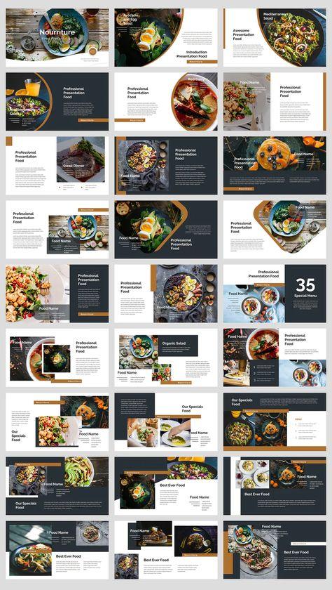 Food & beverages Keynote template