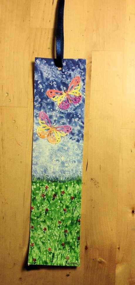 Voglio il mondo a colori: Segnalibro acquerello su tela