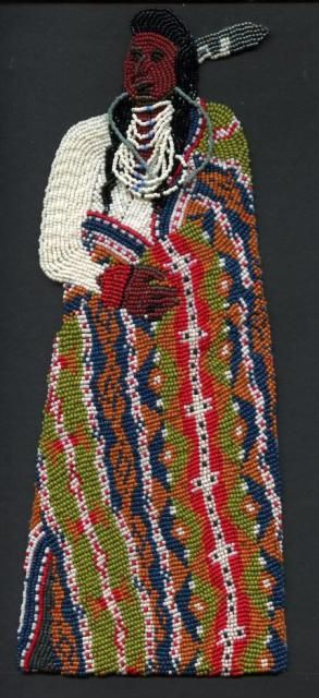 Chief Joseph in a Pendelton blanket... front...back still in process...by Maggie Johnston