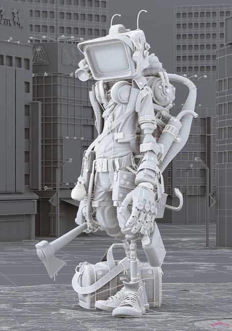 As incríveis ilustrações de David Domingo | 3D Art (Modeling