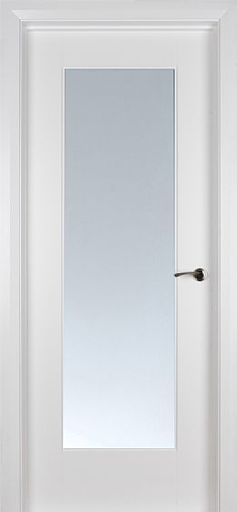 Shaker 1 Lite White Primed Pre Glazed Clear Glass 40mm White Internal Doors Doors Interior Modern Internal Glass Doors