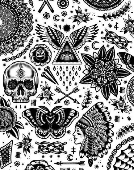 Super tattoo old school black galleries 17 Ideas #tattoo